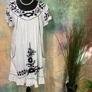 📌Indian Tropical Fashion Cotton Embroidered Dress